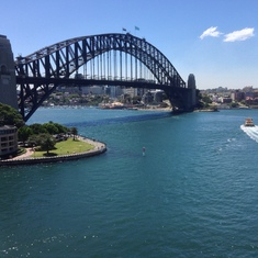 Sailway under Sydney Harbour Bridge,