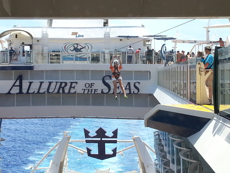 Zip Line On Allure Of The Seas - Royal Caribbean International