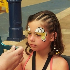 Face painting on the boardwalk