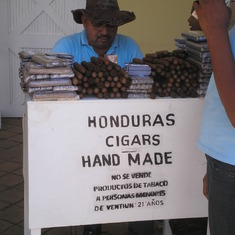 Honduras hand rolled cigars being made