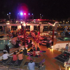 Nightly entertainment on the pool deck