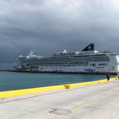 The Jewel at Costa Maya (Storm rolling in!)