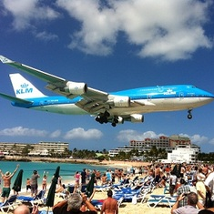 Airport Beach in St. Maarten