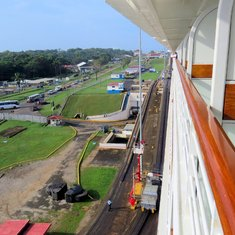Panama Canal Transit - Once in the canal, there is no room to spare!