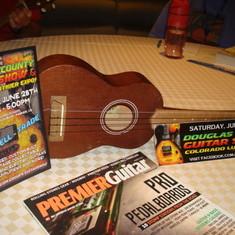 I played this ukulele while on the ship.