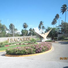 San Juan, Puerto Rico - Entrance to the Bacardi Rum Factory