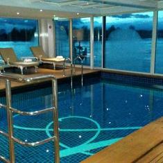 Heated indoor pool aboard Uniworld S.S. Antoinette