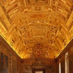 Civitavecchia (Rome), Italy - Ceiling in Vatican Museum