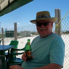 Relaxing in port