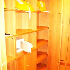 Walkin Closet in Penthouse Suite, aka Pinnacle Suite, Cabin 7001