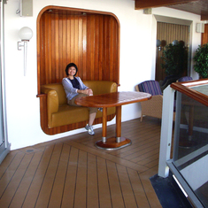Relaxing on Penthouse Balcony, Westerdam