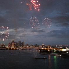 Miami, Florida - Fireworks over Miami.