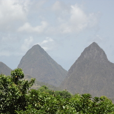 The Pitons in St. Lucia!! Beautiful,