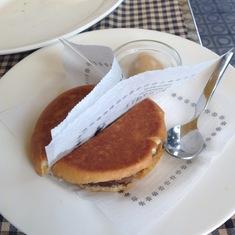 "Tapas 24 in Barcelona -- the ""McFoie"" burger"