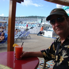 Drinks at the Red Frog Rum bar