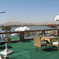 """Nile River and the """"Valley of the Kings"""" beyond"""