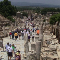 Kusadasi (Ephesus), Turkey - Walking towards the library