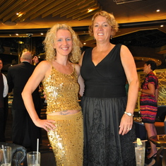 Dana and Brenda on Royal Princess formal night