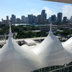 View of Miami from my balcony.