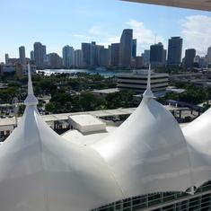Miami, Florida - View of Miami from my balcony.