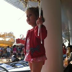 At the Disney Dream sail away party