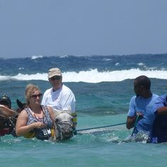 Horseback Riding in the Ocean in Jamaica