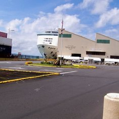 The ship in dock in Hilo