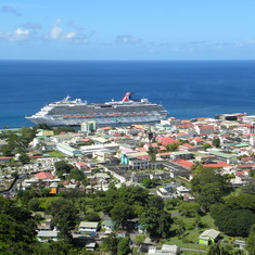 Dominica - ship view