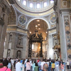 Civitavecchia (Rome), Italy - Inside St Peter's Basilica