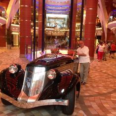 Dream Car on ship