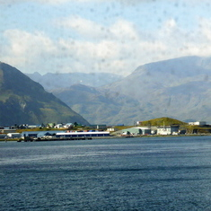 View from the ship after leaving Dutch Harbor