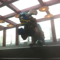Dragon over thalassotherapy pool