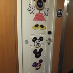 Our cabin door