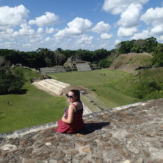 Altun Ha Belize from the top of the tallest pyramid