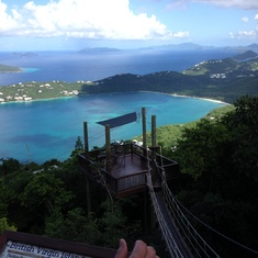 Extreme Zip Line in St. Thomas