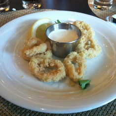Calamari in the main dining room