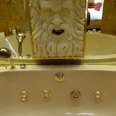 Hot Tub Faucet in Bathroom of Pinnacle Suite, Cabin 7001