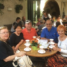 Rudesheim, Germany - Special coffee with the gang