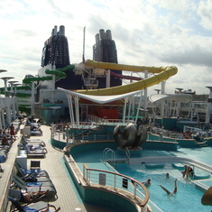 Cool water slides! Felt like I was a kid again.
