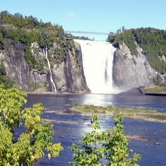Beautiful Mont Morency Waterfall