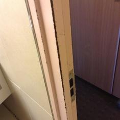 another beat up door frame
