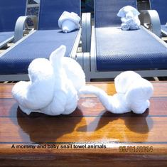 Towel Animals on the Lido Deck