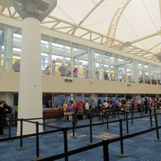 Miami, Florida - Miami Cruise Terminal- lines to check in, lines to board