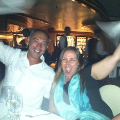 Ed and Nicole at the last dinner on Royal Princess