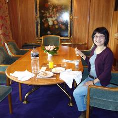 Breakfast morning of  disembarkation, Pinnacle Suite, Zaandam