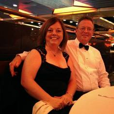 Formal night dining on the Ship