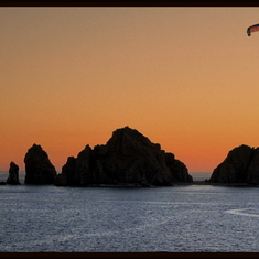 Cabo San Lucas, Mexico - Flying over Lands End