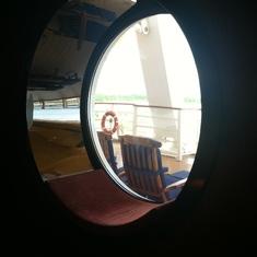 Comfy window seats on Disney Dream