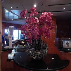 Beautiful decor aboard ship