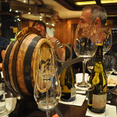 Wine pairing dinner in Vines on Royal Princess